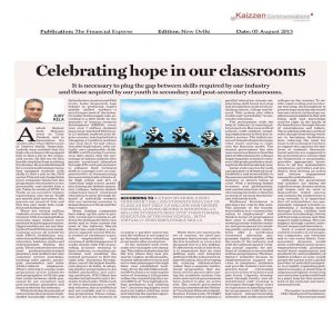 Celebrating Hope in our classroom Financial Times