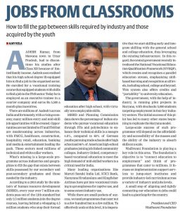 Jobs from classrooms Financial Express