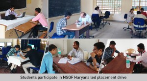 Students Participate in NSQF-Haryana Led Placement drive