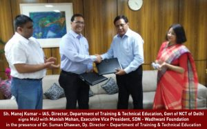 WF SDN signs MoU with DTTE Delhi