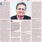 Ajay kela - wadhwani foundation interview in Financial Express