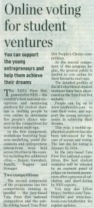 Online Voting for tata first dot