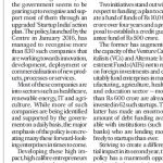 Startups: Creating Enterprises Of Future – Policy Article Featured In Deccan Herald