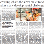 Why creating jobs is the silver bullet to solving India's many developmental challenges