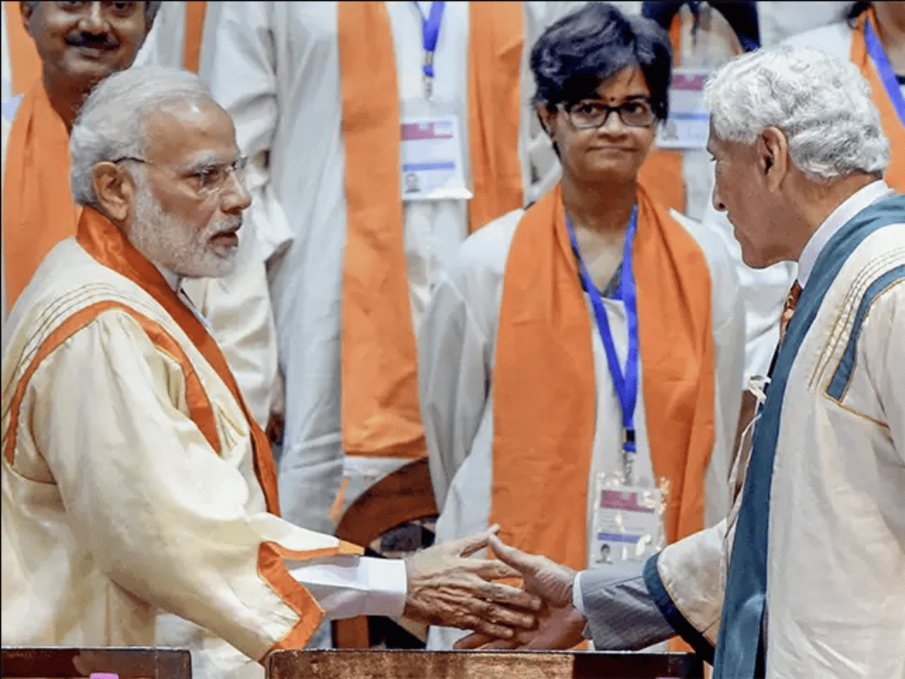 PM Modi with Dr. Romesh Wadhwahi